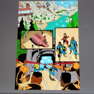 Preliminary color plate for page 1